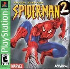 SPIDER-MAN 2 ENTER: ELECTRO - PLAYSTATION GAME COMPLETE PS1 CIB