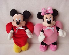Mickey & Minnie Beanies w/ Handmade Heart Suits + Original Clothes