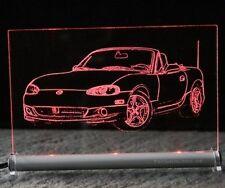 Mazda MX5  als AutoGravur auf LED Leuchtschild    MX 5