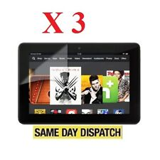 "3 X Amazon Kindle Fire HDX 7"" inch 2013 LCD Screen Protectors Cover Film & Cloth"