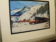 Southern Pacific on Donner Pass Black Widow Diesel  Color Railroad Archives 0B
