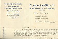 45 CHATILLON-COLIGNY HAYERE COURRIER CHATEAU DES NOUES DAMPIERRE/BURLY 1948