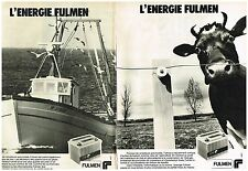 PUBLICITE ADVERTISING 054 1979  FULMEN    batterie automobile  de peche ( 2 p