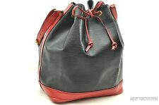 Authentic Louis Vuitton Epi Noe Bi-color Black x Red Shoulder Bag LV R094