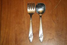 Oneida Tudor Plate Queen Bess II 1946 Two Piece Baby Set Baby Fork and Spoon GUC