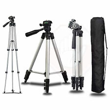Full Size 50-inch Camera or Video Tripod with Leveler 360 Adjust & Case