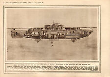 1915 WWI PRINT ~ LAKE SUBMARINE POSSESSED BY RUSSIAN NAVY LAY MINES ON SEA-BED