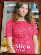Wendy Cotton pattern Book 366. Designs in, DK and 4 ply  to knit and crochet