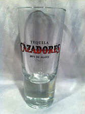 Nice Tall Shot Glass CAZADORES Tequila 100% Agave Heavy Base Shooter 5-1/4 inch