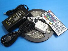 12v 5A power  + 5M 300SMD RGB 5050 Waterproof LED Strip light +44 Key IR Remote