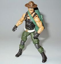 Gi joe sgt slaughter with removable hat custom kit poc,roc,25th,30th,50th,fss