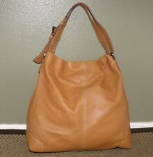 TALBOTS CAMEL LEATHER EXTRA LARGE TOTE SHOPPER SHOULDER BAG