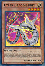1x Yugioh SDCR-EN002 Cyber Dragon Drei Super Rare 1st Edition Card