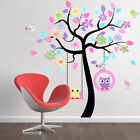 New Removable Large Owls Tree Wall Stickers For Kids Living Rooms Home Decal