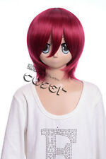 W-10-110 rouge 33cm Perruque COSPLAY Perruque court Cheveux