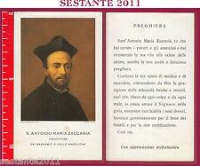187 SANTINO HOLY CARD S. ANTONIO MARIA ZACCARIA FONDATORE BARNABITI E ANGELICHE
