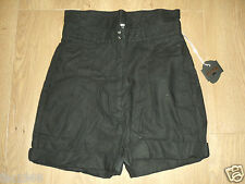 Kostym By Cheap Monday Women's Hight Waisted Black Linen Blend Shorts M New