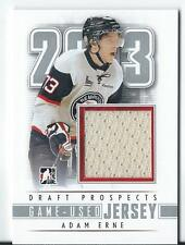 2013 ITG Draft Prospects Game Used Silver Jersey ADAM ERNE #M-01   /110
