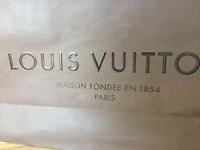 Official Louis Vuitton Designer Paper Gift Bag Brown