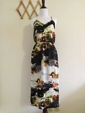 YBE Women's Painting Style Long Dress,Size M,NWT