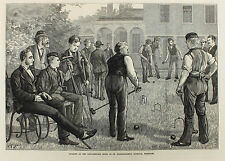 Game of CROQUET Bartholomew´s, Krocket, The London Illustrated News 1873 GARLAND