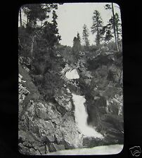 Glass Magic Lantern Slide A WATERFALL PROBABLY IN NORWAY C1910 L115