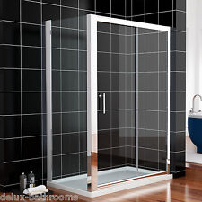 1700x900mm Sliding Shower Enclosure Glass Screen Cubicle Doors Side Panel+Tray