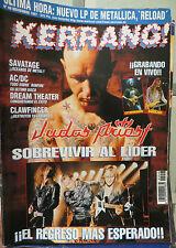 KERRANG :N.48-JUDAS PRIEST-AC/DC-BARRICADA-EXTREMODURO-BARON ROJO-CLAWFINGER
