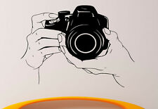 Photo Camera Wall Decal Vinyl Sticker Studio Interior Mural Home Decor (2fcm4)