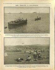 Balkans War invasions Bulgaria Bulgarie Bataille Salonique Thessaloniki 1915 WWI