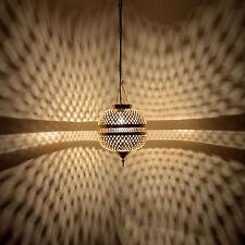 Orientalische Hängeleuchte aus Messing Marokkanische Lampe Hängelampe MHK H40cm