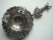 prächtiges, antikes silbernes Teesieb, Silber Holland, Windmühle