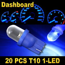 20x Blue T10 W5W 194 168 2825 1-LED Wedge Light Bulb Car Dashboard Side Lamp New