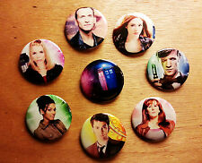 8 piece lot of Doctor Who pins buttons badges