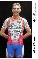 CYCLISME carte cycliste ALDO KLOMP équipe B&E cycling team