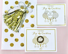8 Gold Foil Pop The Question Bridesmaid Will You Be My...Bridal Shower Cards