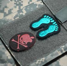 USAF AFSOC PEDRO DUSTOFF PARARESCUE JUMPER MEDIC PJ TAB Green Feet + APPLE SKULL
