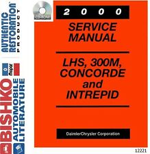 2000 Chrysler LHS 300M Concorde Intrepid Shop Service Repair Manual CD Guide OEM