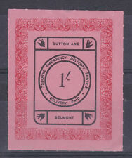 1971 STRIKE MAIL OSBORNE BELMONT & SUTTON POST 1/- BLACK & RED ON PINK MNH (a)