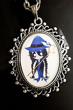 Ruby Gloom Misery Antique Silver Pendant Necklace Goth Cartoon Purple Witch