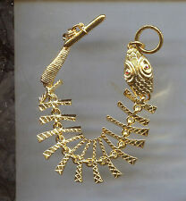 KENNETH LANE GOLD FISH SKELETON  bracelet