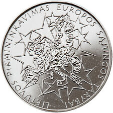 UNC 1 Litas Coin Dedicated to Lithuania Presidency of the Council of European