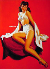 AL BUELL PIN-UP GIRL POSTER IN WHITE TIGHT SHORTS & TOP SEXY HOT PHOTO PINUP ART