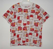VINTAGE ANDY WARHOL CAMPBELL SOUP CAN T SHIRT POP ART PRINT MENS XL UNWORN RARE