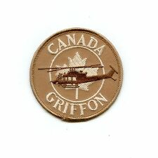 RCAF CAF Canadian 403 408 427 439 Squadron Griffon Tan Helicopter Crest Patch
