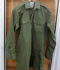 BRITISH ARMY SHIRT MANS GENRAL SERVICE OLIVE GREEN LONG SLEEVE SIZE 35/37