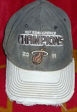 NBA Miami Heat 2011 Conference Champions The Finals Distressed Hat Brown/White,