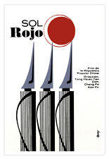 "Cuban movie Poster for Chinese film""SOL Rojo""Red Sun.China Writing Club.PEn Art"