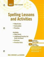 Holt Spelling Lessons and Activities First Course - FREE SHIPPING