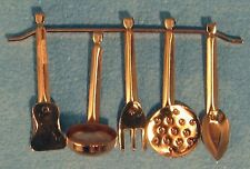 DOLLSHOUSE 1/12th SCALE 5 COPPER COOKING TOOLS